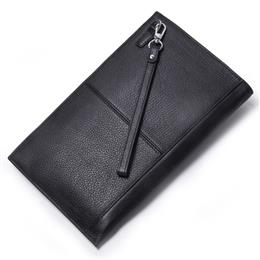 Genuine Leather Wallet Wristlet For Men High Capacity Card Holder Cellp...