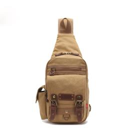 New Casual Men's Chest Bag Canvas Sling Bag Multifunctional Small Ma...