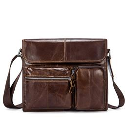 Genuine Leather Men Bag Male Small Flap Fashion Mens Shoulder Crossbody ...