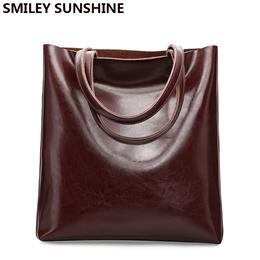 Cow Leather Bag Ladies Genuine Leather Handbags for women Tote