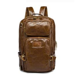 Genuine Leather Men Bag Men Backpack Fashion Male School Backpack Travel Bag Leather Rucksack Multifunction Laptop Bag