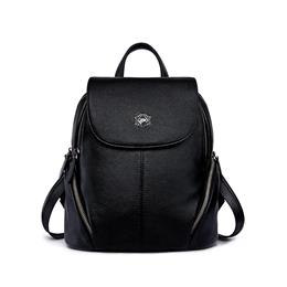 Genuine Leather Backpacks For Teenage Girls Female School Backpack