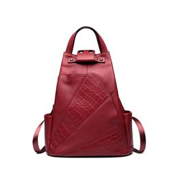 Backpack Women Genuine Leather School Bag Alligator High Quality Double Strap Bags