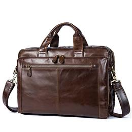 Men Leather Briefcase Laptop Bag Male Genuine Leather Bag Men Briefcase Handbags Multifunction Men's Travel Shoulder Bag