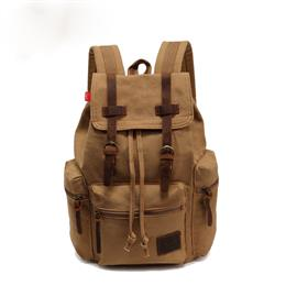 15 inches New Fashion Men's Backpack Vintage Canvas Back To School Bag Men's Travel Bags Large Capacity Travel Backpack Bag