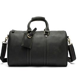 Leather Men Travel Bag Genuine Leather Travel Duffle Big Capacity Handba...