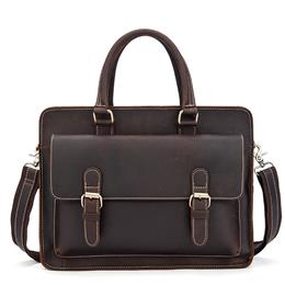 Crazy Horse Leather Shoulder Bag Men Genuine Leather Bags Hasp Messenger Crossbody Bags Men Briefcase Laptop Bag Handbag