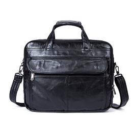 Genuine Leather Men Bag Briefcase Laptop Briefcases 14inch Laptop Bags M...