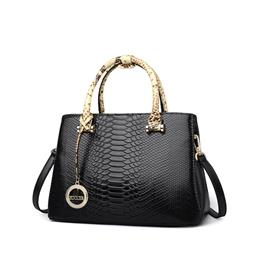 New Product Sales Brand Elegant Cowhide Bags Pattern Handbag Top Handle Genuine Leather Bag