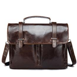Genuine Leather Men Bag Mens Leather Bag for Work Men Briefcases Handbag...