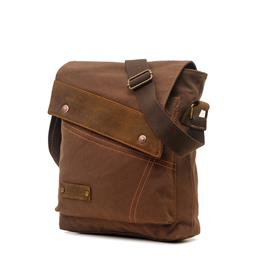 Fashion Men Shoulder Bag Leather Canvas Travel Messenger Bag Document Crossbody Bag High quality small Business Men's Bag