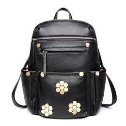 Luxurious Laptop Backpack Casual Women Real Genuine Leather Backpack