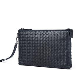 Genuine Leather Men Clutch Bags Long Wallets Men's Leather Clutch Male Wallet Knitting Style Wallet Ipad Phone Clutches