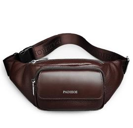 Genuine Leather Men's Waist Packs New Designer Leather Casual Waist Pack High Quality Unisex Waist Belt Bag Waist Bag