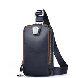 Men Leather Chest Crossbody Bag Casual Men Messenger Bag High Quality Chest Waist Pack Genuine Leather Messenger Bag Men