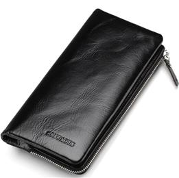 Men Wallets Leather Genuine With Coin Pocket Luxury Brand Cell Phone Purse