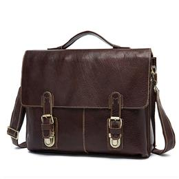 Leather Laptop Bag 13inch Business Men Briefcase Messenger Leather Bag Men Bags Shoulder Crossbody Bags Handbag Totes