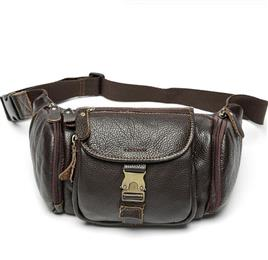 Genuine Leather Waist Bag Men's Leather Fanny Pack Belt Bag Man Chest Bags Men Waist Pack Fashion Male Waist Wallet