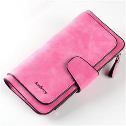 New Fashion Women Wallets Drawstring Nubuck Leather Zipper Wallet Women&...