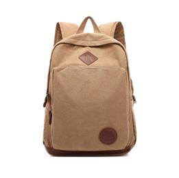 New Men Backpack Canvas School Bags 15.6inch Laptop Bags for Teenagers Vintage Mochila Casual