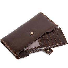 Multifunctional Money Clip Wallets Male Genuine Leather Wallet Men Wallets Purse Casual Leather Purse Zipper Wallet Long