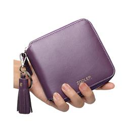Famous Brand Leather Women Wallet Solid Lady Wallets Long Clutches Card...