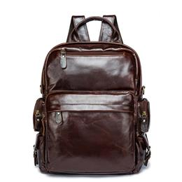 Leather Backpack Brand Men's Travel Bags Luggage School Bag Men Bag ...