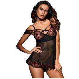 sexy costume women Bewitching Mesh Lace Transparent Night Chemise Dress