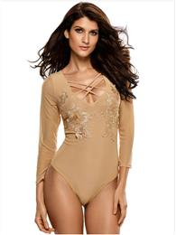 Sexy Slim Basic Bodysuit For Women Nighwear