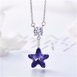 Crystals From Swarovski Women Necklace Pendants S925 Sterling Silver Fas...