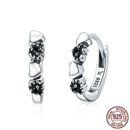 925 Sterling Silver Heart to Heart Hoop Earrings
