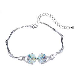 Silver Color Chic Mixed Color Trendy Jewelry FashionCrystals from Swarovski Bracelets