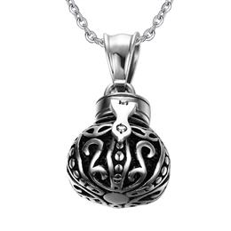 Hollow Crown Pendant For Men Women Memorial Cremation Ashes Urn Stainless Steel Necklace