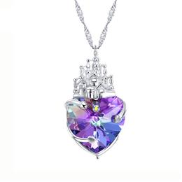 Crystals from Swarovski Necklace Women Pendants S925 Sterling Silver Jewelry