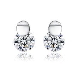 High Quality 7mm Round Cubic Zircon Stud Earring