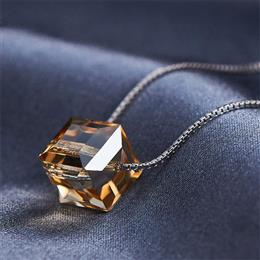 Crystals from Swarovski Jewelry Chic Gold Mixed Color S925 Sterling Silver Necklaces