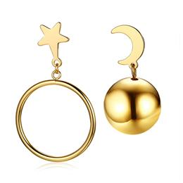 Moon Fashion Dangle Earrings Gold-Color Brincos Femme Jewelry