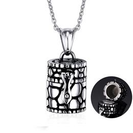 Memorial Urn Ash Holder Pendant For Men Women Casting Stainless Steel Unisex Casual Jewelry