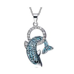 Crystals from Swarovski Women Necklace Pendants S925 Sterling Silver Fashion Jewelry