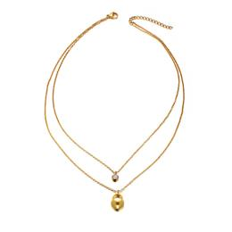 Pendants Gold-color Stainless Steel Heart Lock Chokers Necklaces for Women Girls