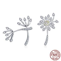 925 Sterling Silver Blooming Dandelion Love Exquisite Stud Earrings