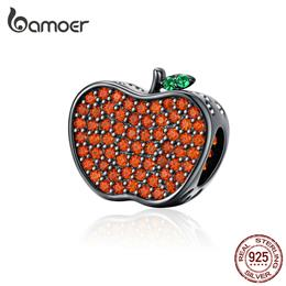 Bamoer Silver 925 Jewelry Design Red Apple Charm