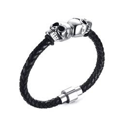 Men Skull Bracelet Jewelry Stainless Steel Halloween Gift