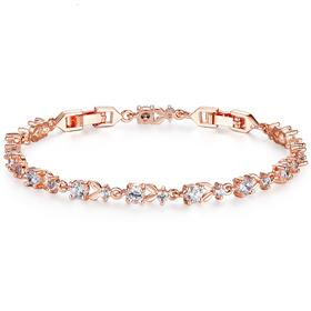 6 Colors Luxury Rose Gold Color Chain Link Bracelet