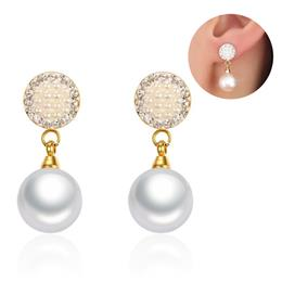 Women's Stud Earrings Stylish Simulated Pearl Earrings For Female We...