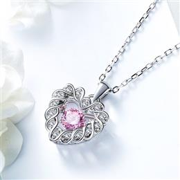 Dancing Stone Necklace Women Pendants Charms S925 Sterling Silver Jewelry
