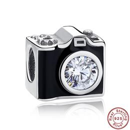 Original 925 Sterling Silver Sentimental Snapshots Camera Charm Fit Brac...