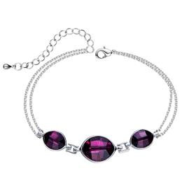 Bracelets Women Bracelet Oval Purple Elegant Trendy Chic
