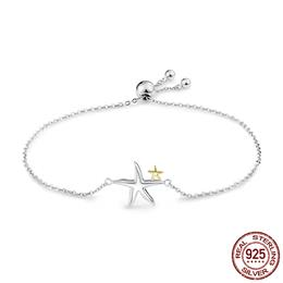 925 Sterling Silver Starfish Fairy Tale Women Chain Link Bracelet