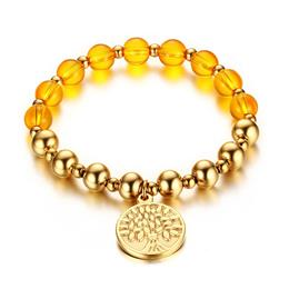 Tree Of Life Bracelet Bangle Gold-color Prayer Beads